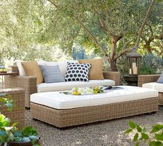Need patio inspiration? Shop Pottery Barn for outdoor and patio furniture and decor. Find outdoor dining tables, sofas, sectionals and more and create an inviting outdoor space. Outdoor Furniture Plans, Outdoor Sofa, Outdoor Spaces, Outdoor Living, Outdoor Decor, Indoor Outdoor, Outdoor Pillow, Outdoor Events, Living Room Furniture