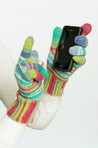 Candy Striped Texting Gloves
