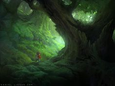 Digital Painting Forest