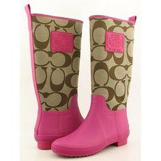 purple rainboots | Dream Artists: Coach Rain Boots
