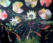 Glitter Skin by Becky Blair - acrylic on canvas Plant Art, New Zealand, Glitter, Contemporary, Abstract, Canvas, Floral, Flowers, Plants