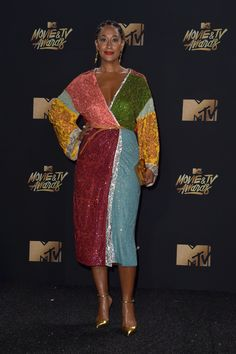 Tracee Ellis Ross Photos Photos - Actor Tracee Ellis Ross attends the 2017 MTV Movie And TV Awards at The Shrine Auditorium on May 2017 in Los Angeles, California. - 2017 MTV Movie and TV Awards - Arrivals Tracey Ellis, Tracee Ellis Ross, Vetement Fashion, Streetwear, Love Her Style, Red Carpet Dresses, Zendaya, Dame, Nice Dresses