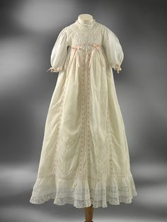 How sweet is this christening gown? Beautiful details. English, 1900 or so.
