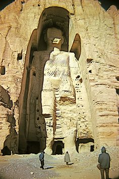 Buddha statue in Afganistan, Bamitan two buddha site.  Ignorance led people to deface it recently.