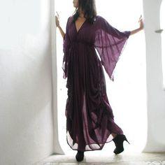 Vestido Maxi de seda mezclado (366) (M-XL)