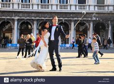 Just Married - Wedding In Venice, Italy, Piazza San Marco, Venezia Stock Photo, Royalty Free Image: 108173280 - Alamy