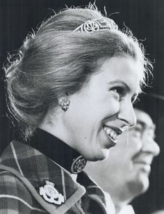 a recently acquired image of Princess Anne wearing the meader tiara of her grandmother, 1972 Princess Alice, Princess Elizabeth, Princess Margaret, Royal Princess, Queen Elizabeth Ii, Princesa Anne, Images Of Princess, Lady Ann, Queen Elizabeth