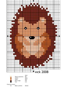 Hedgehog xstitch