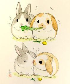 Kawaii Bunny Xmas Painting Pinte