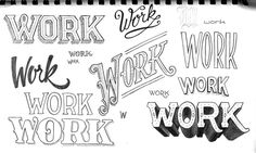 Great Lettering warm-up by Jonathan Ball! There is No Substitute for Hard Work by Jonathan Ball - Skillshare