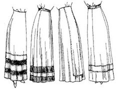 1910 - 1915 Skirt Patterns (Attic Copies)
