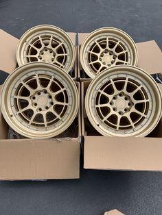 15x8 Aodhan Rims AH04 4x100/114.3 +20 Gold Wheels Rims (Used Set) · $349.00 20 Rims, Gold Wheels, Car Stuff, Black Gold, Porsche, Porch