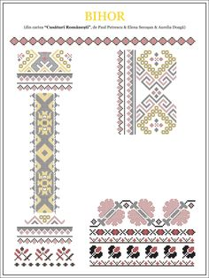 Semne Cusute: model de camasa din CRISANA, Bihor Folk Embroidery, Embroidery Stitches, Embroidery Patterns, Cross Stitch Patterns, Knitting Patterns, Learn Embroidery, Cross Stitch Freebies, New Things To Learn, Beading Patterns
