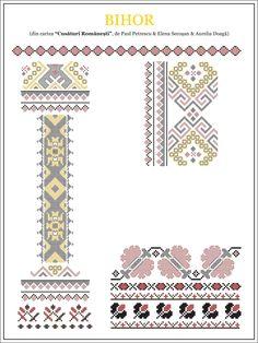 Semne Cusute: model de camasa din CRISANA, Bihor Folk Embroidery, Learn Embroidery, Embroidery Stitches, Embroidery Patterns, Cross Stitch Patterns, Knitting Patterns, Cross Stitch Freebies, New Things To Learn, Beading Patterns