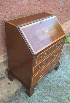 187.....Stunning Vintage Inlaid Mahogany Bureau