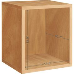 Way Basics Eco Stackable zBoard x x Tool-Free Assembly Tall Storage Cube Unit Organizer in Natural - The Home Depot Modular Storage, Cube Storage, Closet Storage, Diy Storage, Organizing Your Home, Storage Organization, Cube Unit, Cube Shelves, Cube Organizer