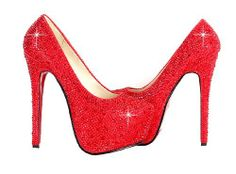 red sparkly high heels