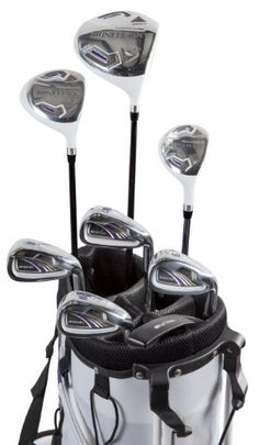Pinemeadow Golf Women's Nitrix Pro Set Driver, 3 Wood, Hybrid, 6/7-PW Irons, Putter Bag (Right Hand)