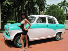 Me and my dad's restored 1955 Austin A50  #vintagecar #Austin #1955