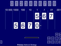 ITP moving digits, multiply and divide by 10 and 100 Integers, Place Values, Company Logo