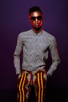 """temomaninpr:  Hunger Magazine - Bite by Dent de Man- @Models 1 / Jamie Baah Mensah wears """"Bambou"""" trousers. Exclusive online Editorial by Jenny Brough"""