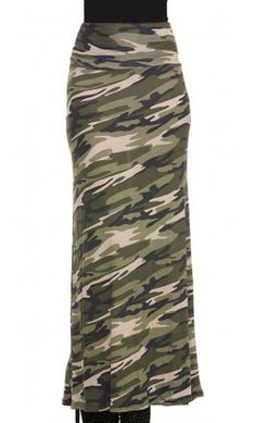 Camo Maxi Skirt - Apostolic Clothing - gotta look fashionable as a prepper sometimes :)
