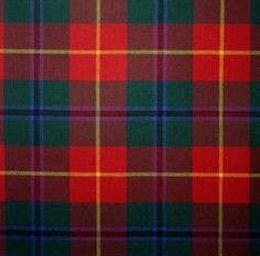 Modern Turnbull Dress Light Weight Tartan.  The Turnbull Clan Association was formed in Hawick in the late 1970's and has gathered members throughout the world. In 1978 the Association produced two tartans. These two tartans - Hunting Turnbull and Dress Turnbull - have been created from a marriage of the Douglas and Bruce tartans - both clans having had much to do with the history of the Turnbulls.