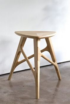 Carved wood Stool