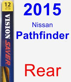 Rear Wiper Blade for 2015 Nissan Pathfinder - Rear