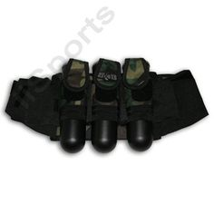 3+4 GXG Paintball CAMO Slam Pod/Tube Harness Pack by GxG. $8.50. Woodland Camo This is an excellent 3+4 Slam Pack Harness. It will hold up to 7 140 round pods (100 round pods fit, too!). Sleeves hold 3 tubes and 4 can be held in elastic sleeves which fold away when not in use to provide a very low profile pack! Reinforced elastic straps are adjustable and comfortable. Wide 4 inch hook & loop belt. Woodland camo with black accents.. Save 72%!