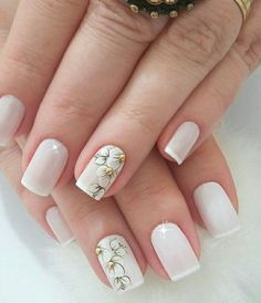 Nail Designs Spring, Cute Nail Designs, Acrylic Nail Art, Gel Nail Art, Manicure E Pedicure, Pretty Nail Art, Prom Nails, French Nails, Simple Nails