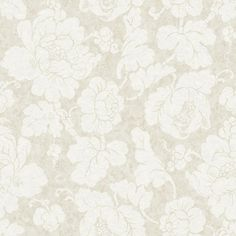 56 sq. ft. American Classics Oversized Peony Wallpaper, Eggshell/Beige/Pale Taupe
