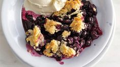 Blueberry-Drop Biscuit Cobbler #thanksgiving #dessert #recipe via @Bonnie Helton Appetit Magazine