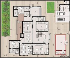 House Layout Plans, Family House Plans, New House Plans, House Layouts, House Floor Plans, Classic House Design, Dream Home Design, Home Design Plans, Square House Plans