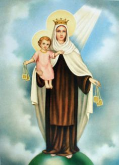 Catholic-Italian-Religious-Print-OUR-LADY-OF-MOUNT-CARMEL
