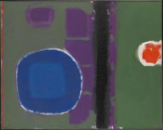 Green and Purple Painting with Blue Disc: May 1960 - Patrick Heron Post Painterly Abstraction, Abstract Art, Tate St Ives, British Paints, Patrick Heron, Art Informel, Flat Picture, Purple Painting, Green And Purple