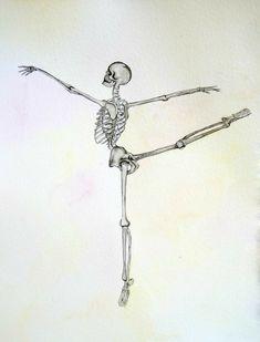 Items similar to Ballerina Dance Painting Skeleton Drawings, Skeleton Tattoos, Skeleton Art, Art Drawings, Skeleton Dance, Skeleton Makeup, Skull Makeup, Skeleton Anatomy, Anatomy Art