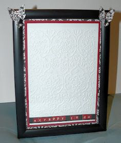 Dry Erase Frame...great idea to keep up w projects i want to do.