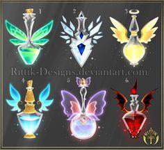 (CLOSED) Potion set 4 by Rittik-Designs