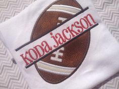 Split football personalized shirt by kissedwithcreativity on Etsy, $25.00