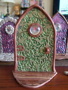 how to: polyclay fairy door. Earthen ware will work nicely too I bet