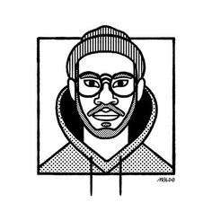 KAYTRANADA // @kaytranada -  -  -  -  -  #kaytranada #kevincelestin #kaytra #dj #producer #illustration #design #drawing #portrait #maldonaut #maldo #illustrationage #picame #illustree #designarf #artwork #simplycooldesign #thedesigntip #illustrarts #illustrator #artist #art #designspiration #dribbblers #etapes #editorial #editorialillustration #music Cool Designs, Editorial, Doodles, Darth Vader, Sketches, Age, Graphic Design, Portrait, Artist Art
