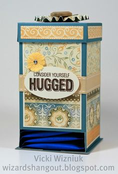 could maybe do this on a container and fill it with hershey hugs