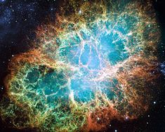 Still image from the animation of the 1054 supernova that created the Crab Nebula. Note: artist's impression. Name:Crab Nebula, Messier 1 Type:Milky Way : Nebula : Type : Supernova Remnant Distance:6000 light years Category:Nebulae