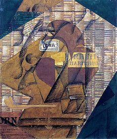 Gris, Juan (1887-1927) - 1914 Bottle of Rum and Newspaper (Peggy Guggenheim Collection, Venice, Italy) by RasMarley, via Flickr