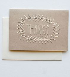 singsweetly:  (via Kraft Stitched Thanks Card Pack)