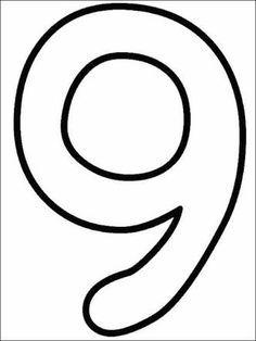 9 Rakamı Boyama Ile Ilgili Görsel Sonucu Plandakiler Numbers
