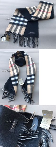 Scarves 52382: Burberry Mens Cashmere Classic Check Scarf Reversible Camel Black Nwt! -> BUY IT NOW ONLY: $379 on eBay!