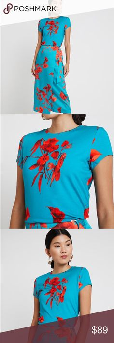 8c9774c81 Ted Baker DILLIA Fantasia fitted T-shirt Ted s flourishing Fantasia print  adorns the DILLIA T