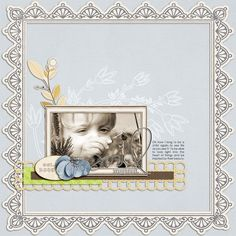 Ideas for Borders, Seams and Edging on  Your Scrapbook Page | Scrapbook Page by Amy Kingsford | GetItScrapped.com/blog